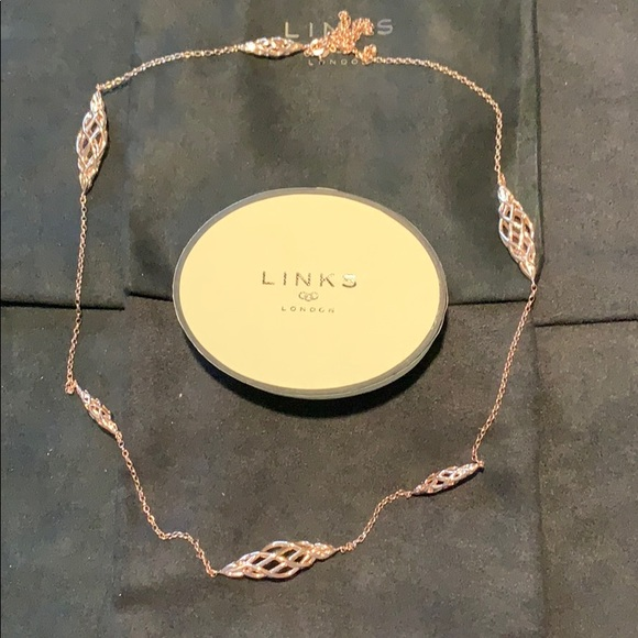 Links of London Jewelry - NIB Links of London 18k Rose Gold Station Necklace